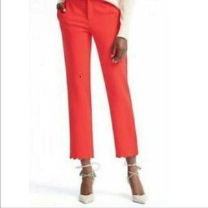 Banana Republic Avery dress pants. Coral red